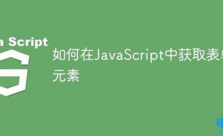 如何在JavaScript中获取表单元素