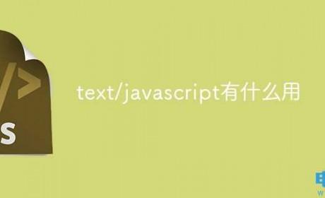 text/javascript有什么用