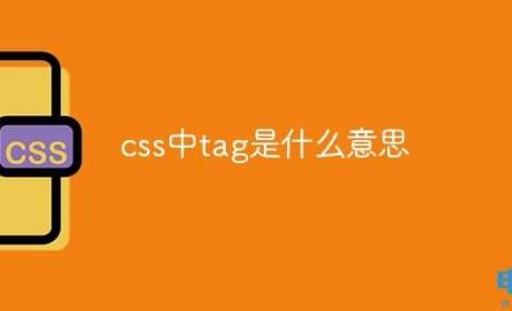 css中tag是什么意思